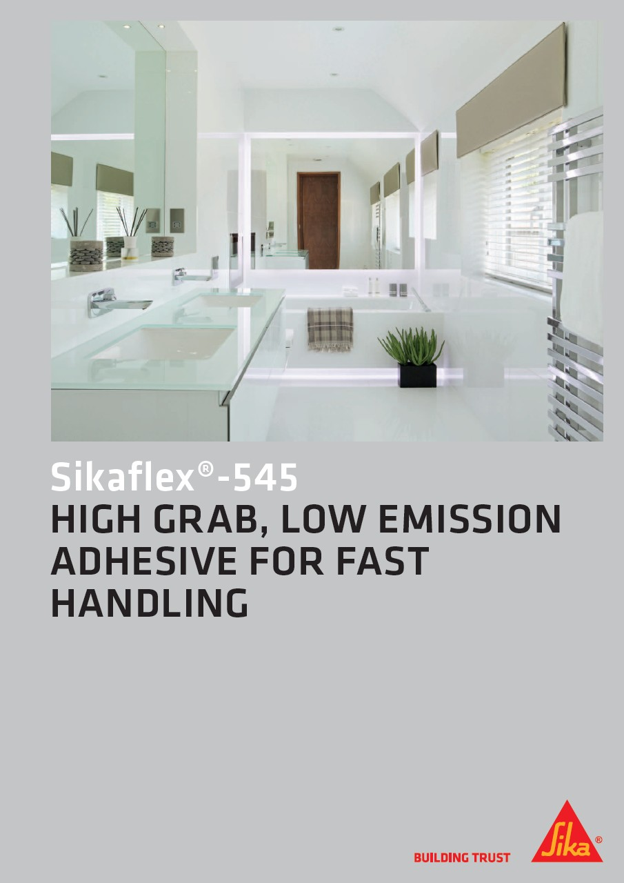 Sikaflex®-545 - High Grab, Low Emission Adhesive for Fast Handling